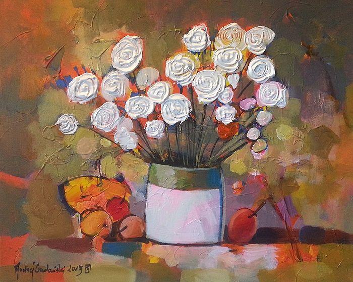 White Bouquet 20x16  by Andrzej Gudanski on ArtClick.ie