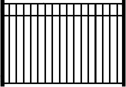 Amazing Gates presents the Telluride Wrought Iron Fence Panel constructed with hot dipped galvanized undercoat and powder coat finish. Available models include Telluride Finial Wrought Iron Fence,  Antique Wrought Iron Fence,  Telluride Wrought Iron Fence
