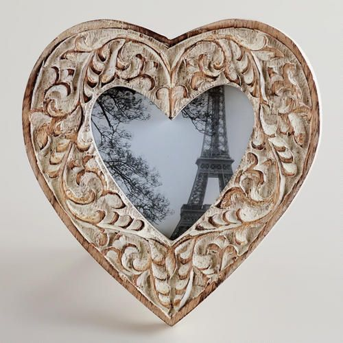 One of my favorite discoveries at WorldMarket.com: Whitewashed Helena Heart Frame