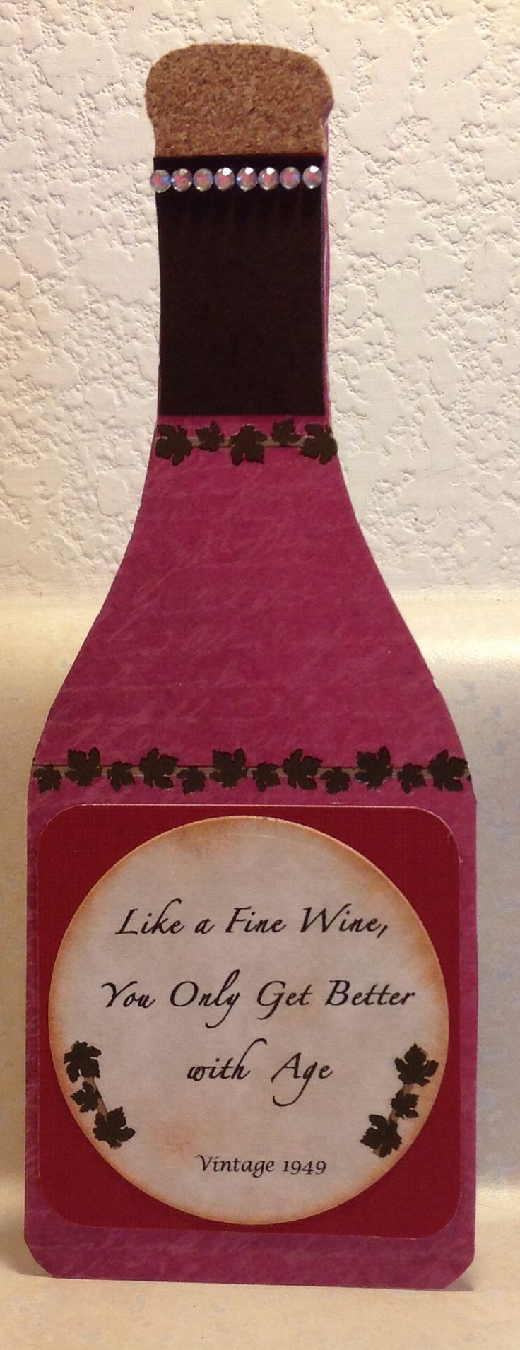 80 Best Wine Bottle And Wine Glass Cards Images On Pinterest