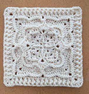 """""""Victor"""" a free crochet square pattern by Polly Plum. Opportunity to make this a 9"""" or 12"""" square. Notes on this particular project. Just. Wow. The written directions and row by row picture tutorial made this square a lot easier than I had anticipated. Lots of opportunities to play with color…but great texture shows even i..."""