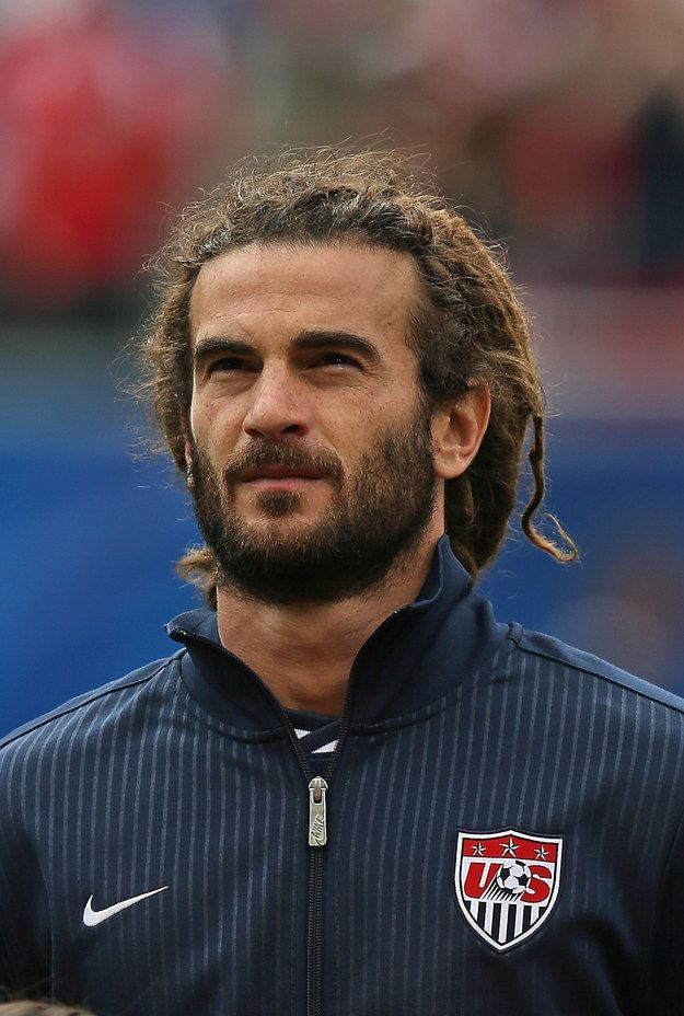 """Kyle Beckerman of the United States with the """"Khal Drogo"""". I love the name of his hair style lol! Only 2 guys with Dreads I've ever found attractive haha"""