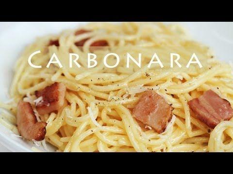 Easy Spaghetti Carbonara Recipe - add cooked spaghetti into egg+parmesan mixture