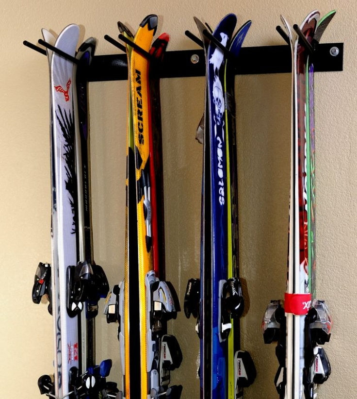 Home utility ski rack basement 70 camp wilderness for Ski decorations for home