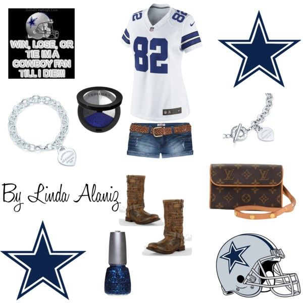 """Dallas Cowboy Outfit"" by linda-alaniz on Polyvore so want this outfit for next weeks game but with cowboy boots"