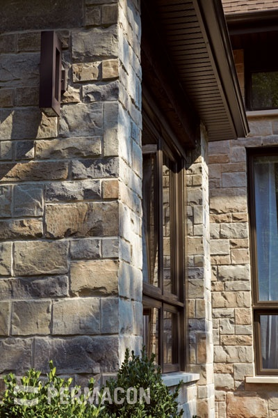 Lafitt Stone by Permacon (in Margaux Beige), a masonry product that evokes the look of stone cut by a stonemason at a fraction of the cost.