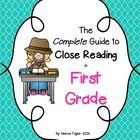 This guide is designed to give you ALL the information and resources you need to begin effective close reading in your first grade classroom. Close...