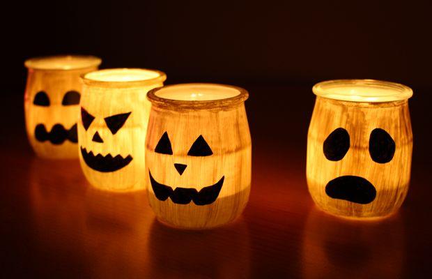 Des photophores fantômes pour #Halloween http://www.modesettravaux.fr/photophores-fantomes-halloween/