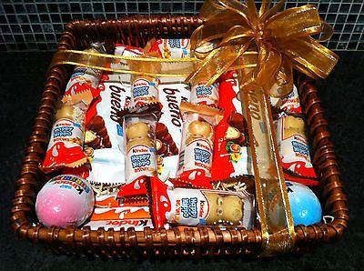 Kinder chocolate gift hamper basket