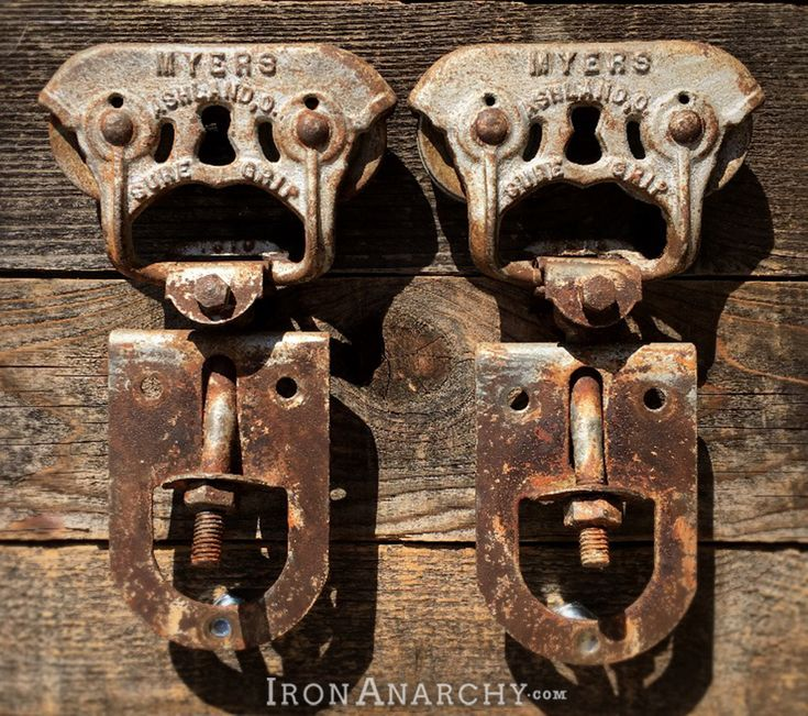 1810 cast iron barn door rollers. Myers Sure Grip, Ashland, Ohio. |  Industrial casters, Vintage casters, Vintage industrial