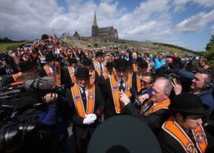 Orange Order asks DUP to put Drumcree march on wishlist in May talks  Portadown lodge wants party to exploit its newfound influence with call for ban on parade down Garvaghy Road to be lifted