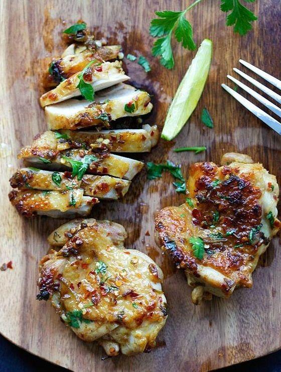 Poulet coriandre citron vert - Notre carnet de comfort food d'automne - Elle à Table