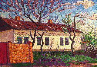 Spring in Otto Schmidta Street by Dmytro Dobrovolsky