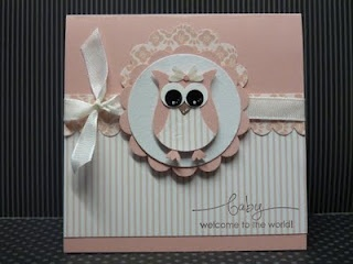 Owl punch baby card.