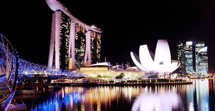 SINGAPORE AT NIGHT, SKYSANDS