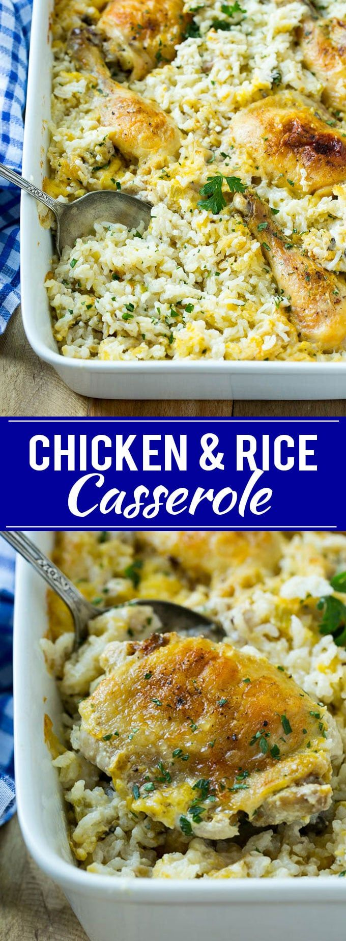 Chicken and Rice Casserole Recipe | Chicken and Rice Bake | Cream of Mushroom Chicken Casserole | Chicken Casserole Recipe