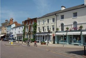 Market Harborough's main street - image by Colin Bramso