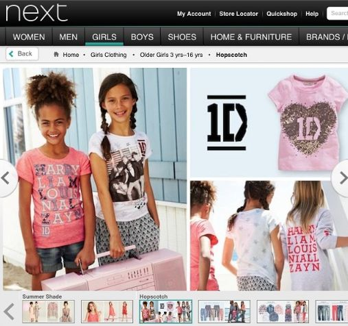We've got a whole new range of girls #1D products currently in Next...just in time for the #onedirection UK tour  #ss14