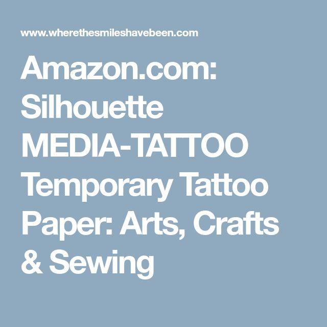 Amazon.com: Silhouette MEDIA-TATTOO Temporary Tattoo Paper: Arts, Crafts & Sewing