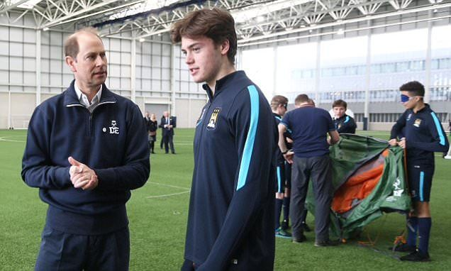 Manchester City starlets enjoy royal visit from Earl of Wessex