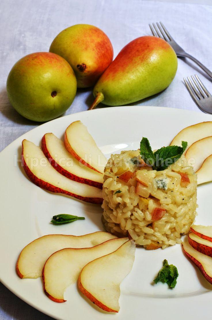 ... RISOTTO ALLE PERE E GORGONZOLA (Risotto with pears and gorgonzola