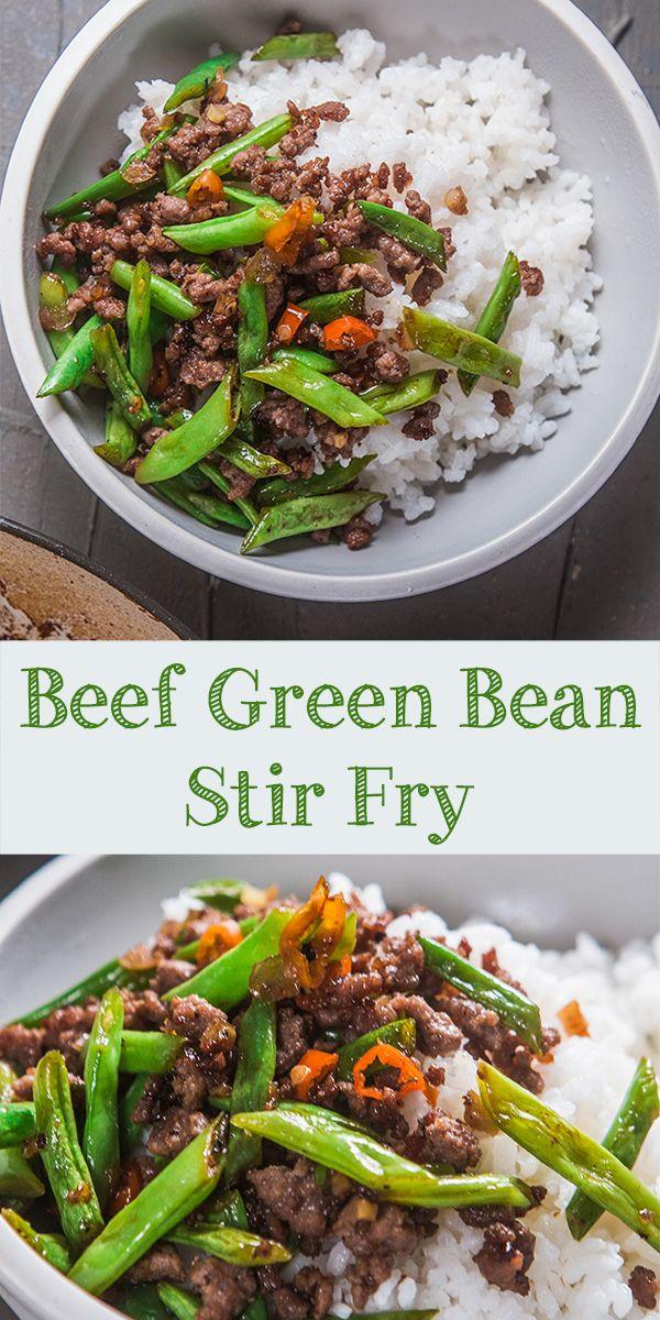 Beef Green Bean Stir Fry Beef And Green Beans Recipe Pasta Dinner Recipes Green Bean Recipes