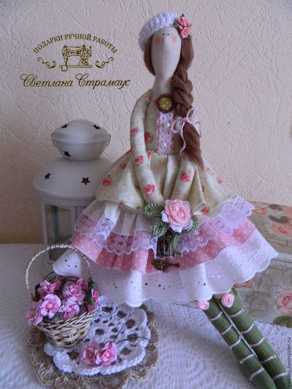 Куклы Тильды ручной работы. Ярмарка Мастеров - ручная работа. Купить Кукла Тильда, романтичная барышня в стиле шебби. Handmade.