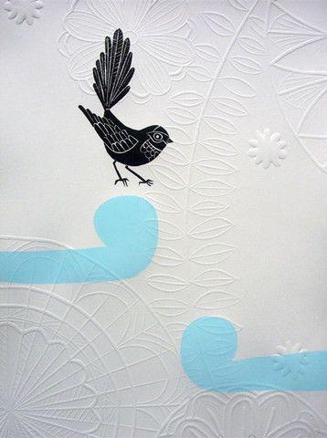 Blue Fantail Hapu - Annie Smits Sandano