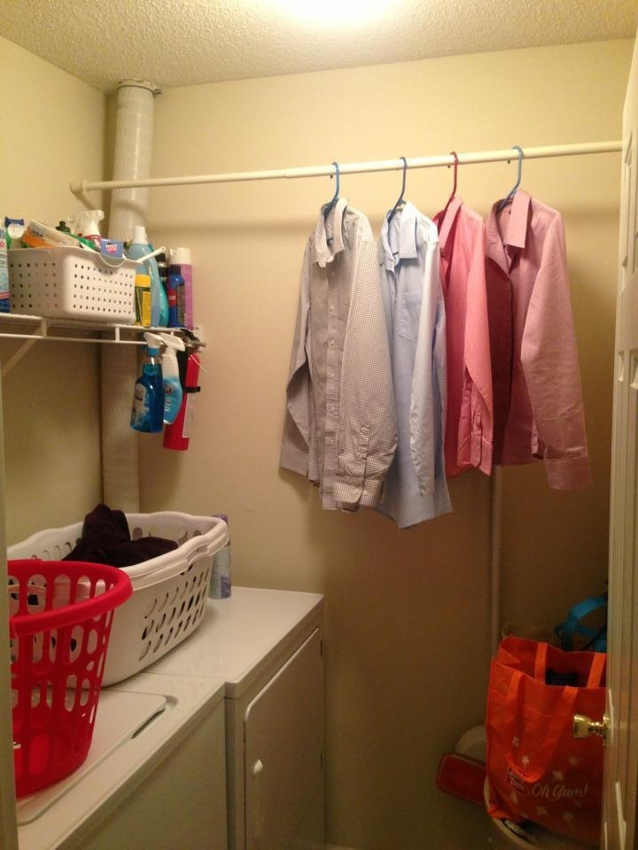 Laundry Room Drying Rack Ideas Tension Rods