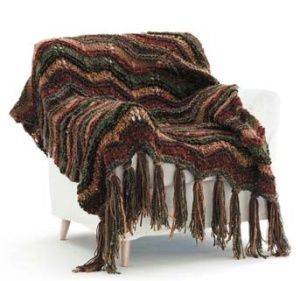 Free pattern for Autumn Throw.  Free registration on Lion Brand website.  I made this for my nephew and his wife.  Mine is pictured in my Needlework album on Facebook.