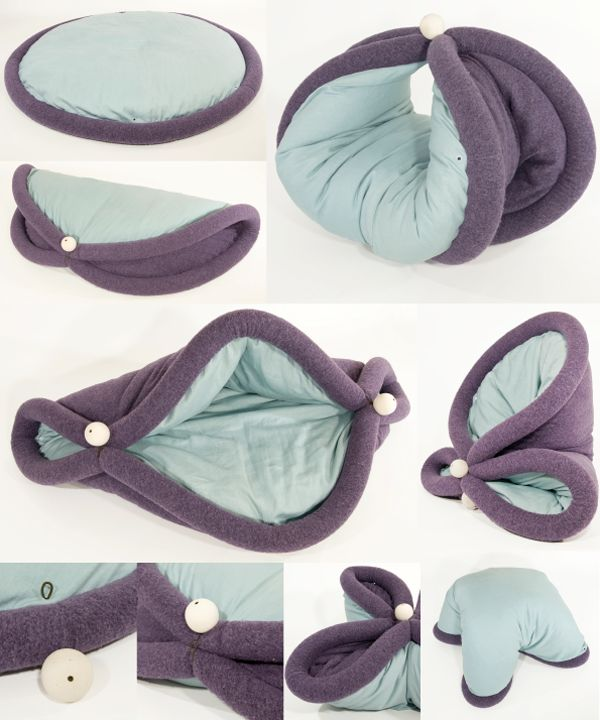 A strange, morphing chair / sleeping bag / cushion BLANDITO. Transformable pad for lazy living on Behance