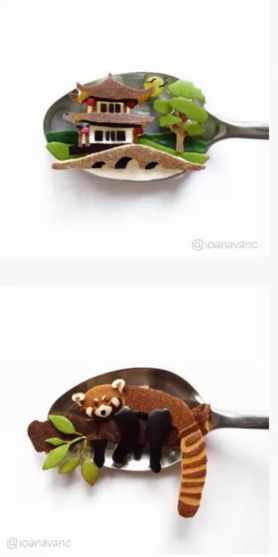 This tiny spoon art is so inspirational, and it's cute enough to eat!