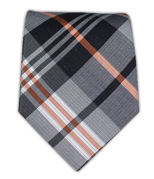 Just a splash of orange. Great looking tie.
