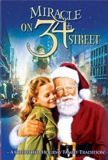 """Miracle on 34th Street (1947) ~ """"When a nice old man who claims to be Santa Claus is institutionalized as insane, a young lawyer decides to defend him by arguing in court that he is the real thing."""""""