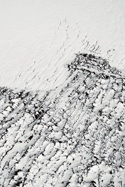 Antarctica - natural cracked textures; black & white pattern; organic inspiration