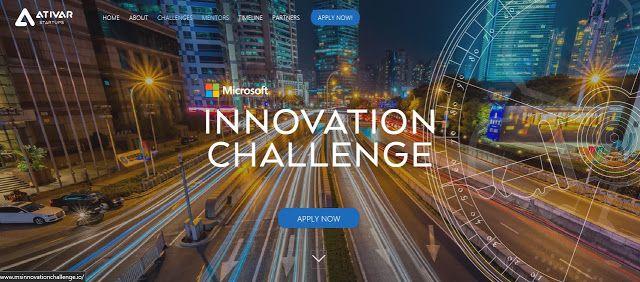 Microsoft Innovation Challenge  ATIVAR STARTUPS  apply until July 30th
