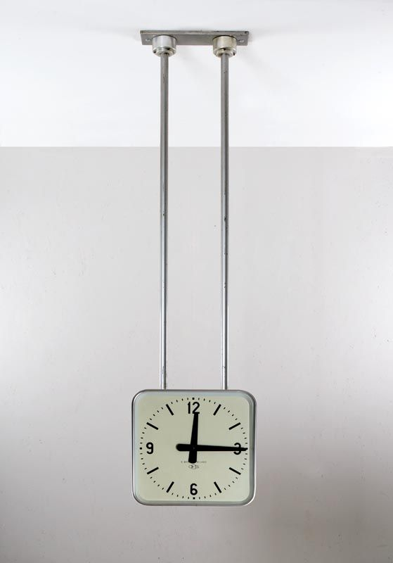 Gio Ponti - Aluminum Ceiling-Mounted Clock by Boselli for the Palace Offices for Montecatini, 1936.