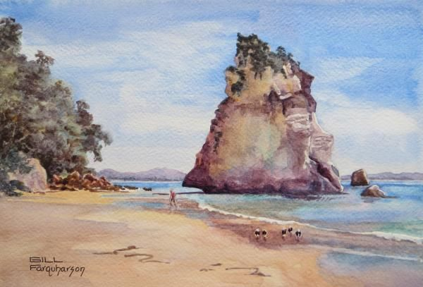 July 2014 Winners   Art Tutor Best In Class: Cathedral Cove, Gill Farquharson