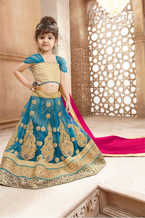 Pure Net Ethnic Wear Kids Lehenga Choli