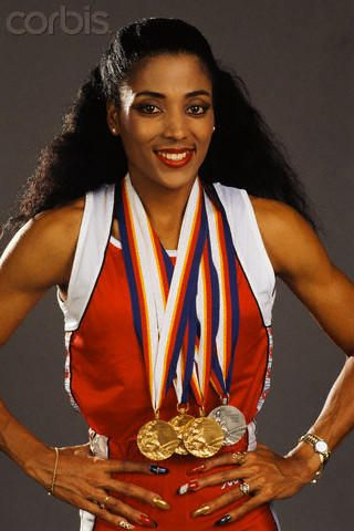 olusheyi31:  HONORABLE MENTION: Florence Delorez Griffith Joyner (December 21, 1959 – September 21, 1998), also known as Flo-Jo, was an American track and field athlete. She is considered the fastest woman of all time based on the fact that the world records she set in 1988 for both the 100m and 200m still stand and have yet to be seriously challenged. She died in her sleep as the result of an epileptic seizure in 1998 at the age of 38. She attended University of California, Los Angeles…