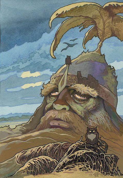 Ivan Bilibin - a Giant in the Earth.