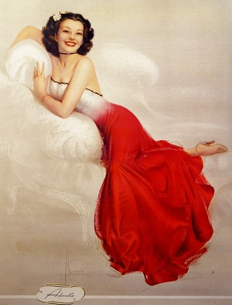 Rolf Armstrong pin-up girl painting - 1948