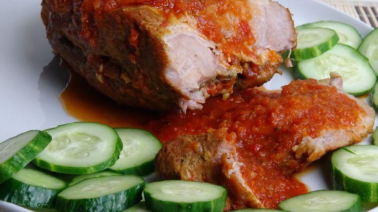 Мясо в овощном соусе. Как правильно мариновать мясо.