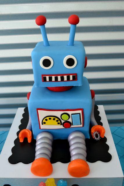 Bestel een heerlijke robottaart