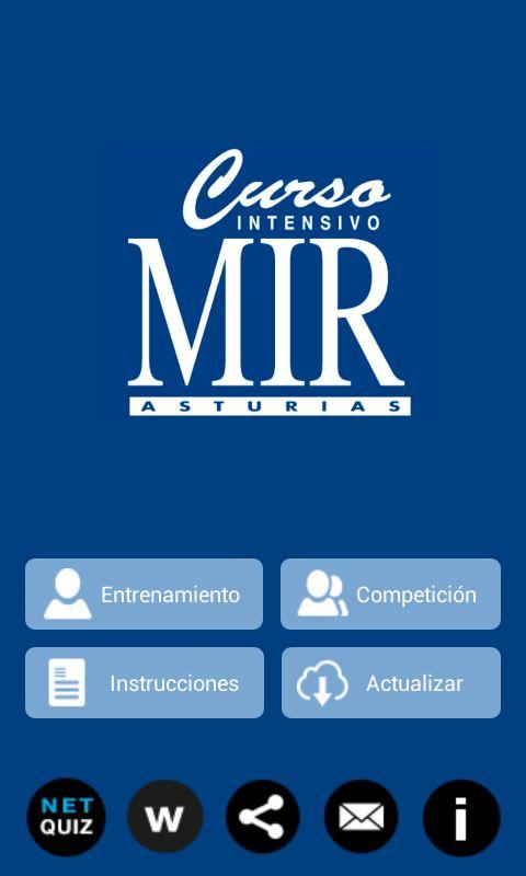 MirQuiz Curso MIR -  Descarga para Android https://play.google.com/store/apps/details?id=es.netkit.mirquiz&hl=es Descarga para iOS https://itunes.apple.com/es/app/mirquiz-curso-mir/id899124017?mt=8