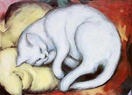 Schöne Fraun mit schönen Katzen    Schöne Fraun und Katzen pflegen  Häufig Freundschaft, wenn sie gleich sind,  Weil sie weich sind  Und mit Grazie sich bewegen.    Weil sie leise sich verstehen,  Weil sie selber leise gehen,  Alles Plumpe oder Laute  Fliehen und als wohlgebaute  Wesen stets ein schönes Bild sind.    Unter sich sind sie Vertraute,  Sie, die sonst unzähmbar wild sind.    Fell wie Samt und Haar wie Seide.  Allverwöhnt. – Man meint, daß beide  Sich nach nichts, als danach…