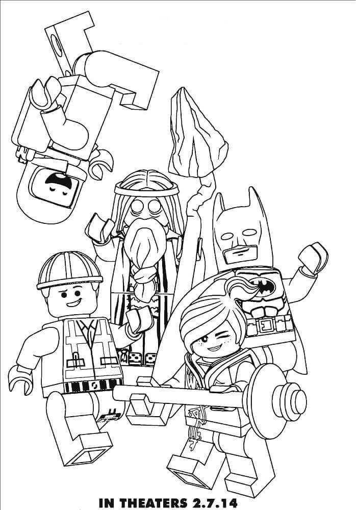 Free Printable The Lego Movie Second Part Coloring Pages Coloring