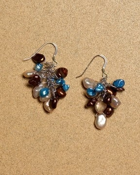 Burst of Blue Earrings