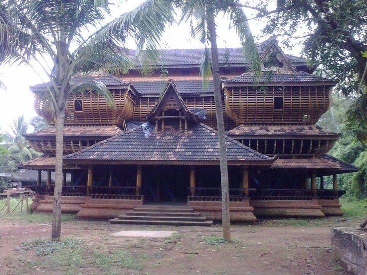 Traditional Kerala architecture theme house in Ottapalam, Kerala,India.