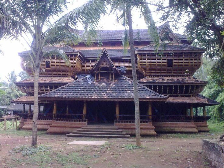 Traditional kerala architecture theme house in ottapalam for Kerala traditional home plans with photos